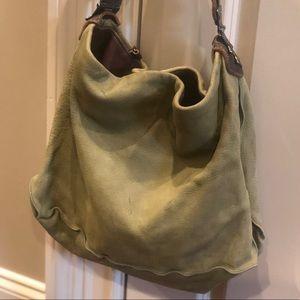 Tylie Malibu green leather hobo handbag